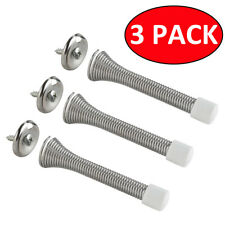 3Pcs Brass Chrome Silver Spring Door Stop Stops Wall Stopper Buffer Protectors