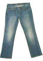 Levis Womens Size W26 L32 Blue Denim Jeans Red Tab Slight Curve Straight Leg