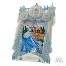 Authentic Disney Parks Cinderella Frame Picture Glass Slipper and Coach