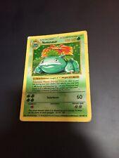 SHADOWLESS Venusaur 15/102 Base Set Holo Vintage Pokémon Card.