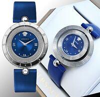 Versace Damenuhr Uhr VE7900220 EON Lünette drehbar IP-Silber SWISS MADE neu