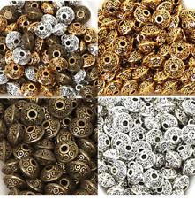 100PCs Dia.6mm Tibetan Metal Beads Antique Gold Silver Oval UFO Shape Loose Spas