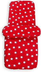 Clair de Lune Red Star Fleece Universal Pushchair Footmuff