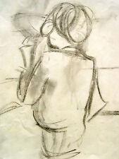 Lis Bertram-ehmsen 1897-1986 Berlín/carbón dibujo/señora espalda/descuento