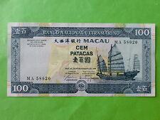 Macau BNU 100 patacas 1999 (PERFECT UNC) MA 58020