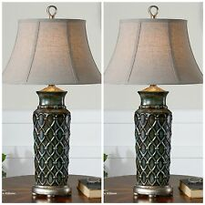 PAIR FRENCH COUNTRY HOME TABLE DECOR LAMPS