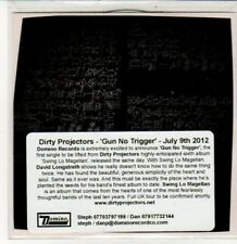 (DD755) Dirty Projectors, Gun Has No Trigger - 2012 DJ CD