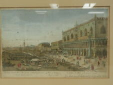 "ANTIQUE ENGRAVING VUE D'OPTIQUE c 1760  ""Venice"" * 43c"