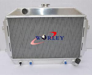 Aluminum Radiator for Nissan Datsun 240Z/260Z L24/L26 AT/MT