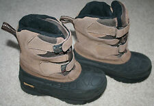 Boys' Ranger Suede Leather Snowmobile Boots 11 YOUTH (EUC) Black/Brown