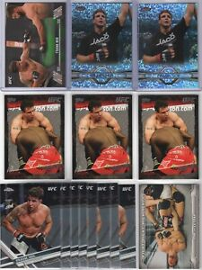 (LOT 15) FRANK MIR 2010-2017 Topps UFC HOF COLLECTION (/215) Green REFRACTOR TUF