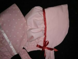 Baby Bonnet~New~pink* Size12- 24 months **Handmade