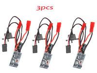 3pcs RC 10A Brushed ESC Two Way Motor Speed Controller No Brake For 1/16 1/18