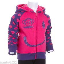 Paul Frank Julius Smiley Face Zip Front Hoodie Sweatshirt Girl's Size 4