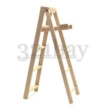 1:12 Scale Dollhouse Ladder Miniature Supply Wooden 125mm high Miniature Ladder