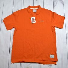 NWT Mens Roots 73 Embroidered TOYOTA Orange Polo T-Shirt Cotton Sz XL