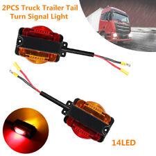 2x Truck Trailer Tail 14LED Light Parking Rear TurnSignal Indicator Reverse Lamp