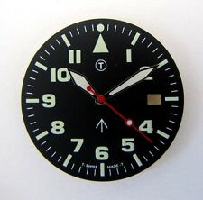 MILITARY dial with hands, fit for ETA 2824.. movements NEW OLD STOCK, swiss made