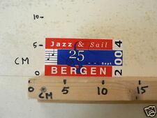 STICKER,DECAL JAZZ & SAIL 25 SEPTEMBER 2004 BERGEN