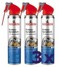 3 x Nigrin Ketten-Sprühfett 400 ml Kettenfett Kettenspray Fettspray  Motorrad