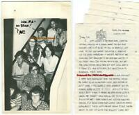 DAVE STEVENS SIGNED LOT (7pc) 1968-72 PHOTO 5pg Letter HS YEARBOOK PIC Rocketeer