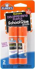 Elmer's Bundle 2 pk of 6 Gram Disappearing Purple Elmer's School Glue Stick (4)
