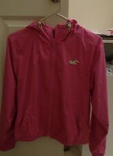 Hollister Young Women's Pink light Weight Water Resistant Jacket  Sz M