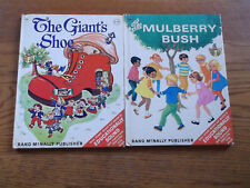Vintage 1960's Children's Story Book Rand McNally The Giant's Shoe Mulberry Bush