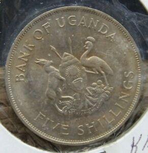 1968 16th October Bank of Uganda FAO Coin Plan Grow More Food 5 Schillings (O3K)