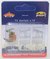 OO 1:76 44-535 Bachmann Scenecraft 1 x Pack of 10 TV Aerials New FNQHobbys