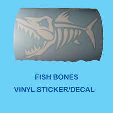 FISH BONES  VINYL DECAL / STICKER