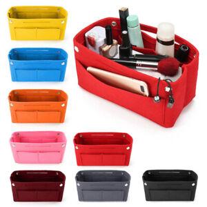 Felt Travel Insert Handbag Home Organizer Cosmetic Bags Storage Pouch Case 34UK