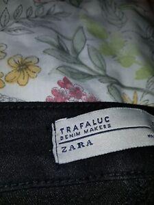 Ladies New Girls Ex-ZARA Woman Denim Stonewashed Jeans/Jegging Plus Size UK8-18