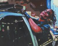 "11x14"" PRINT Heath Ledger Joker Cop Car Batman Dark Knight Comic Book Wall Art"