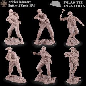 Plastic Platoon Toy Soldier WWII British Infantry And Militia Battle Of Crete