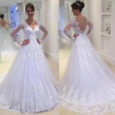 New White/ivory Wedding dress Bridal Gown custom size 2-6-8-10-12-14-16 18