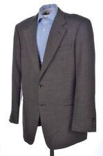 ARMANI COLLEZIONI Brown Plaid Check Silk Blend Blazer Sport Coat Jacket - 46 L