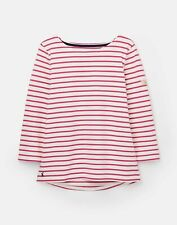 Joules 209041 3/4 Length Sleeve Jersey Striped Top - CREAM PINK STRIPE