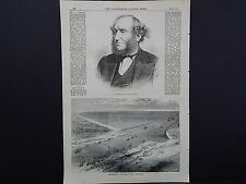 Illustrated London News Full Page B&W A1#91 Apr 1871 Sulina Mouth of the Danube