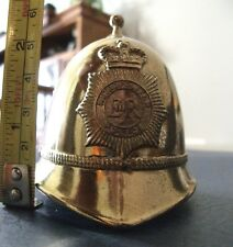 London ER Metropolitan Police Figural Gold Tone Hat Helmet Metal Bell England