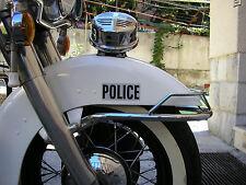Police Harley,FL, Panhead, Shovelhead,Servi Car,ReflectiveTransfer, Sticker