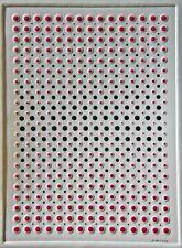 Prägedruck, Unikat, Op Art, Konkrete Kunst, handsigniert, H.Heinecke, A475
