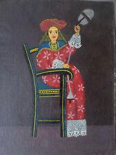 L'école de Cuzco-Fileuse-Tableau- huile/toile- PEROU-XIX/XXe-oil