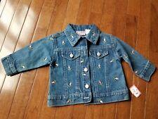 Cradle Togs Infant Baby Girls Size 12 Months Denim Jean Jacket Embroidered