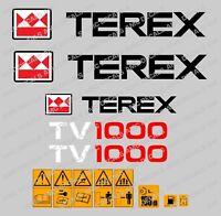 Terex tv1000 Autocollants Stickers GALET