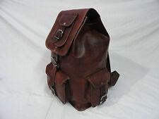New Genuine Leather Back Pack Rucksack Travel Bag For Men's and Women's Girls