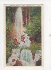 Crystal Falls Shasta Springs Cal Vintage USA Postcard 507a