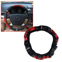 15'' 38cm PU Leather Car Steering Wheel Cover Breathable Anti-slip Protector