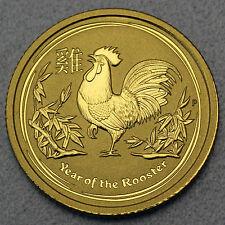 Australien 1/20 oz Lunar II Hahn Rooster 2017 999 Feingold Gold Goldmünze