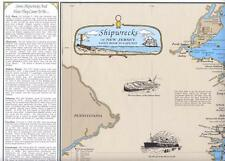 New Jersey Shipwreck Chart-Great Nautical Art Print Map